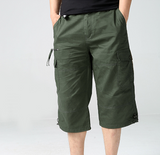 Mens Belted Cargo Shorts