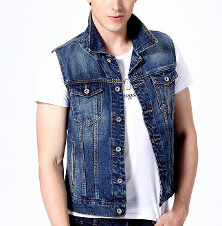 Mens Casual Denim Vest - AmtifyDirect