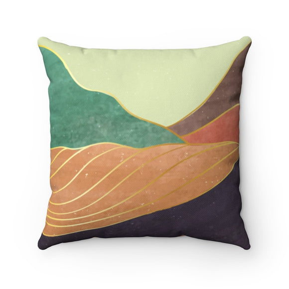 Tranquil Mountain Square Pillow - 4 Sizes