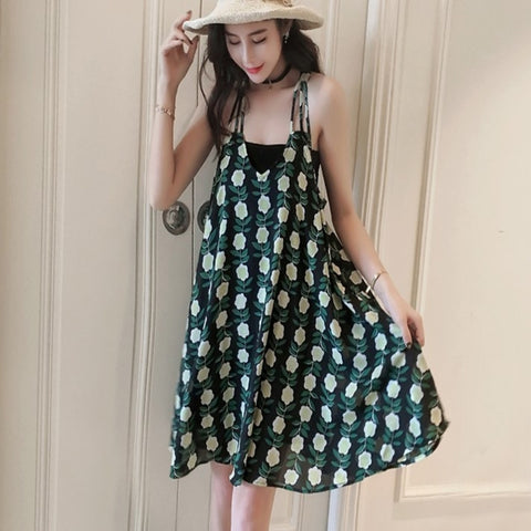 Casual Floral Sundress - AmtifyDirect