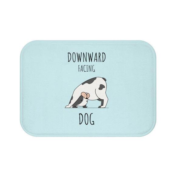 Downward Facing Dog Yoga Bath Mat