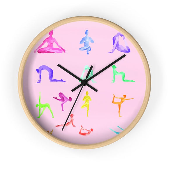 Yoga Sanctuary Wall clock