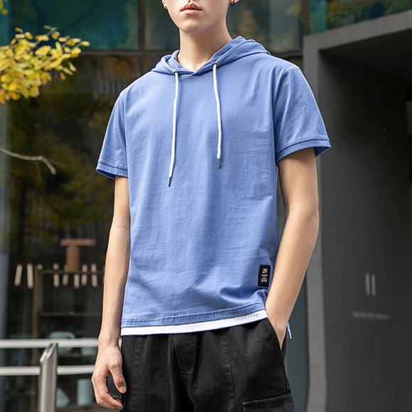 Mens Hooded Layered T-Shirt