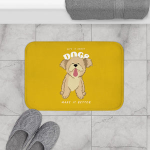 Life is Great, Dogs Make it Better Bath Mat