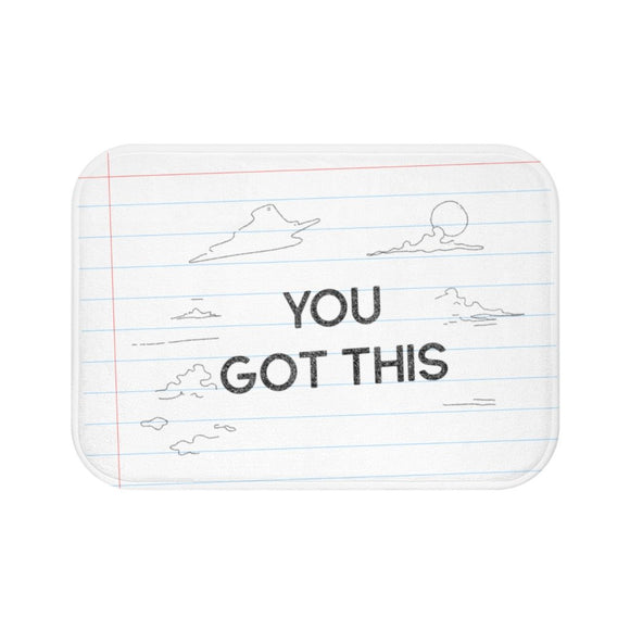 You Got This Pencil Font Bath Mat