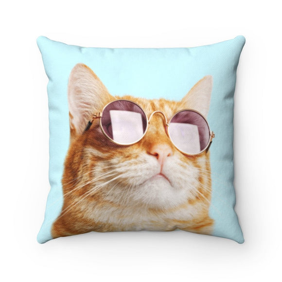 Cat is Always Right Square Pillow Two Sided