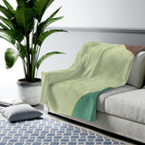 Tranquil Mountain Velveteen Plush Blanket