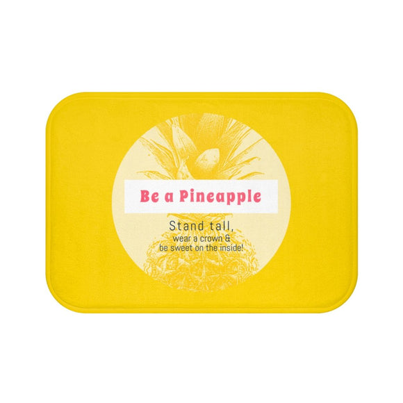 Be a Pineapple Positive Message Bath Mat