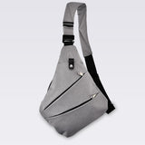 Mens Waterproof Triangle Side Crossbody Bag