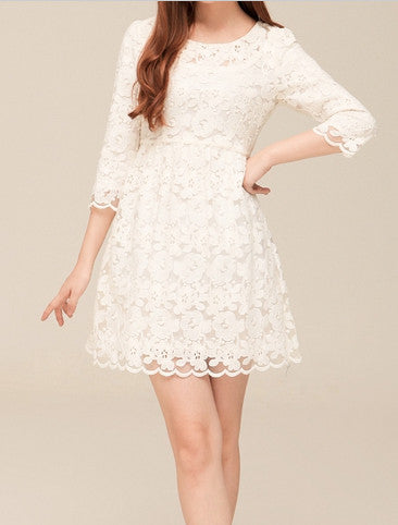 Women's Quarter Sleeve Lace Dress
