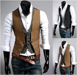Men's Slim Fit Layered Vest - AmtifyDirect