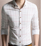 Mens Checked Button Down Shirt - AmtifyDirect