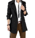 Classic Double Breasted Trench Coat - AmtifyDirect