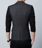 Men's Slim Fit TwoTone Blazer with Pocket - AmtifyDirect