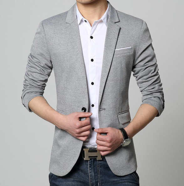 Men Slim Fit Casual Blazer - AmtifyDirect