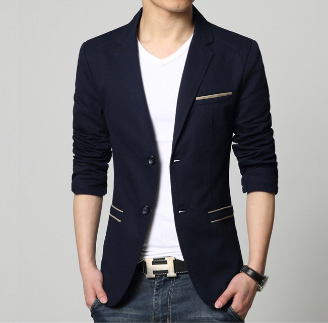 Mens Slim Fit Casual Blazer - AmtifyDirect