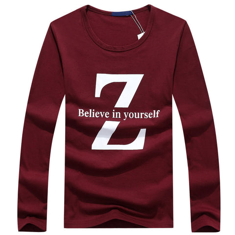 Mens Believe In Your Self Long Shirt Tee - AmtifyDirect