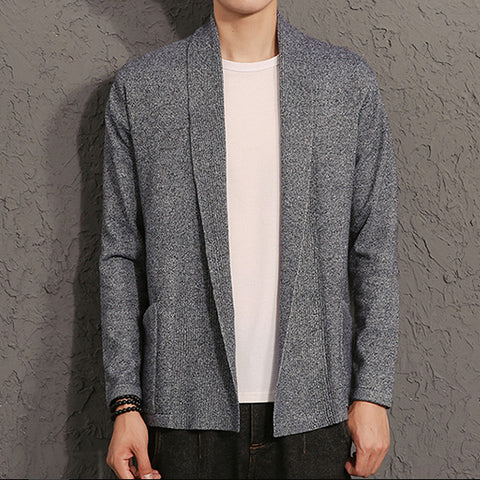 Mens Open Front Cardigan