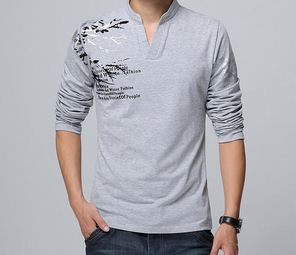 Mens Long Sleeve Shirt with Design - AmtifyDirect