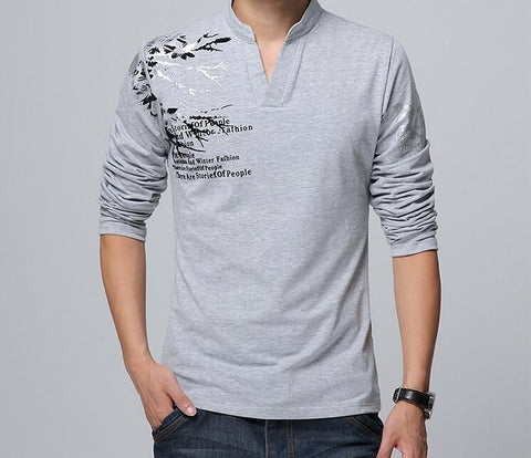 Mens Long Sleeve Shirt with Design