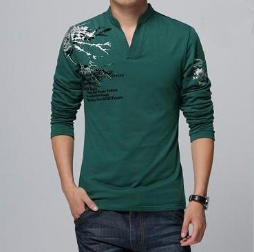 Mens Long Sleeve Top With Details