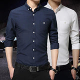 Men Button Front Cotton Shirt