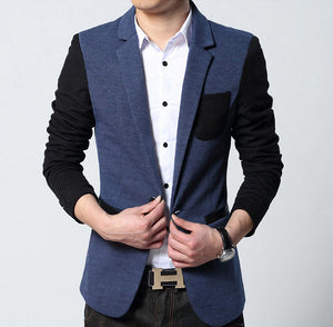 Mens Contrasting Sleeve Sports Jacket - AmtifyDirect