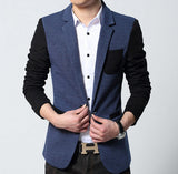 Mens Contrasting Sleeve Sports Jacket