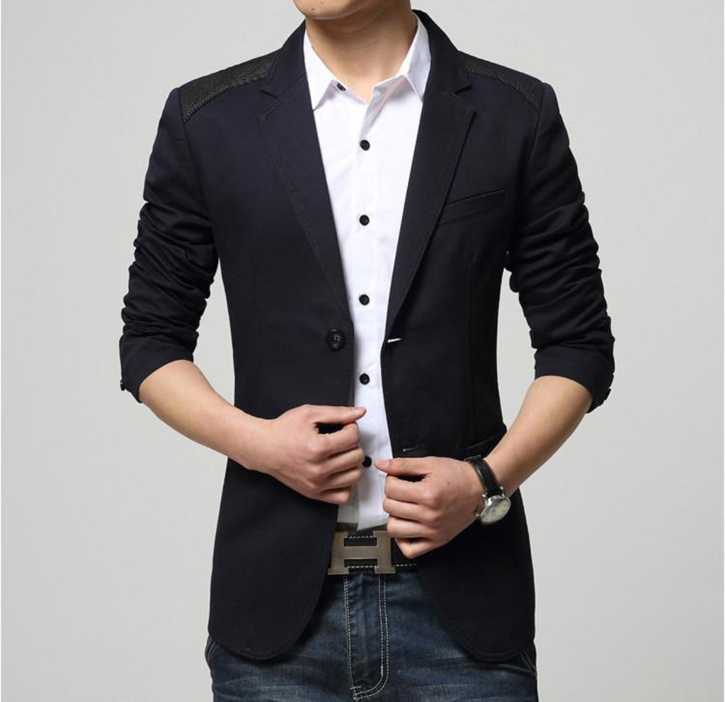 Men Double Button Sports Jacket - AmtifyDirect