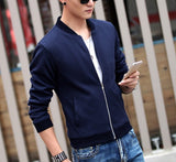 Men's Round Neck Zipper Jacket