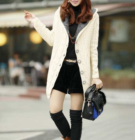 Women's Hooded Cardigan - AmtifyDirect