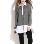 Women's Layered Sweater Shirt - AmtifyDirect