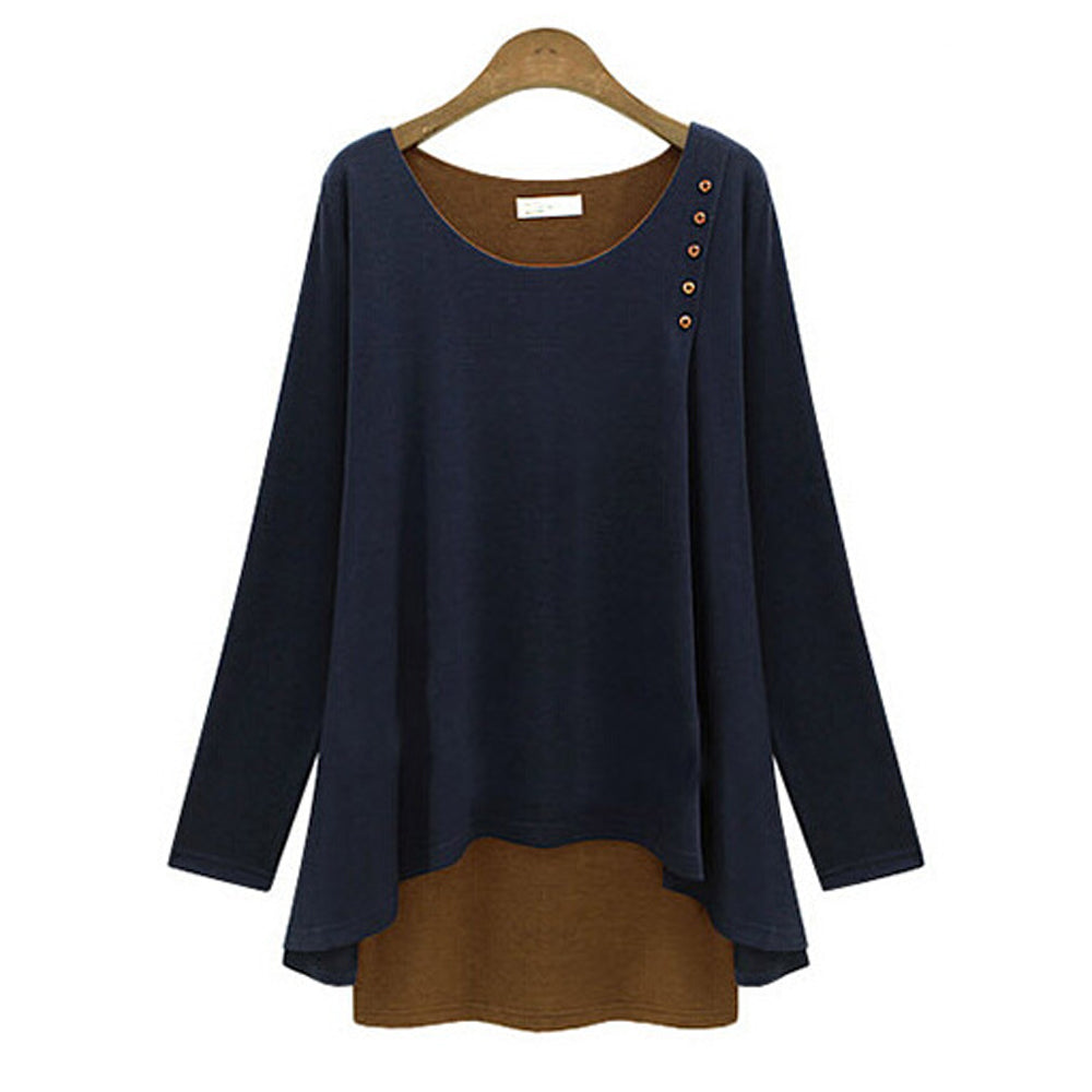 Casual Layered Button Top - AmtifyDirect