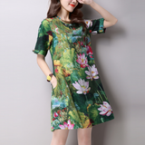 Casual Short Sleeve Floral Dress