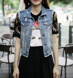 Womens Ripped Denim Vest