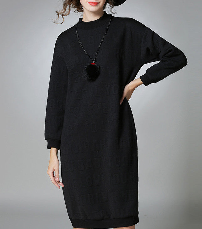 Womens Relaxed Round Neck Dress