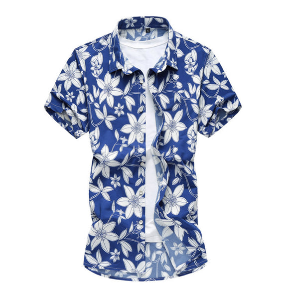 Mens Short Sleeve Floral Shirt