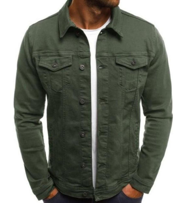 Mens Casual Utility Shirt Jacket