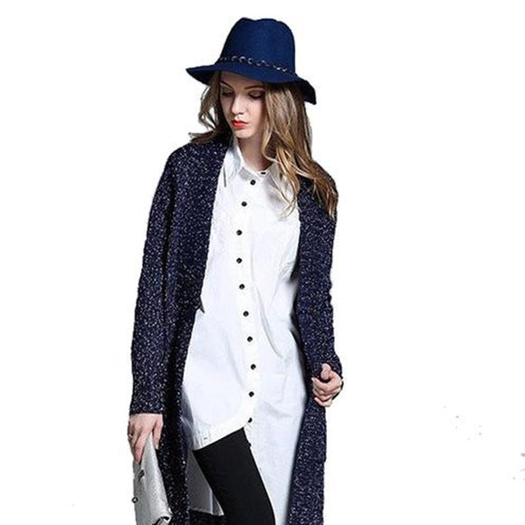 Womens Casual Long Cardigan