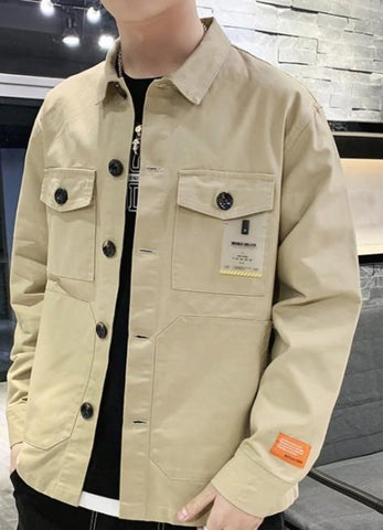 Mens Casual Jacket with Pockets