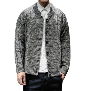 Mens Button Front Cardigan - AmtifyDirect
