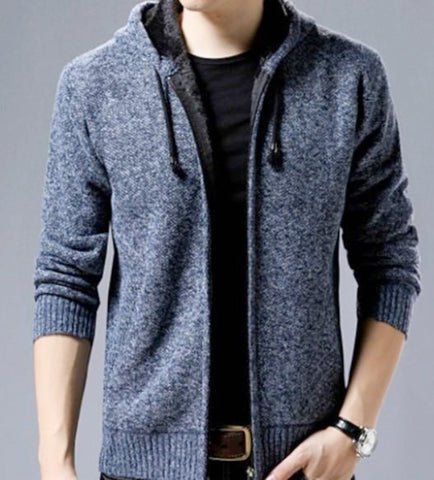 Mens Hooded Zipped Up Jacket - AmtifyDirect