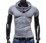 Men's Slim Fit Hoodie T Shirt - AmtifyDirect
