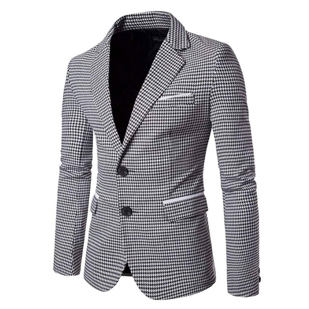 Mens Checkered Blazer