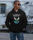 Mens black polyester/cotton pullover hoodie - AmtifyDirect