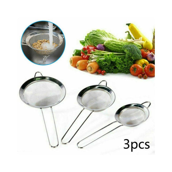 Stainless Steel 3 in 1 Set High Quality Colanders Kitchen Cooking Tools