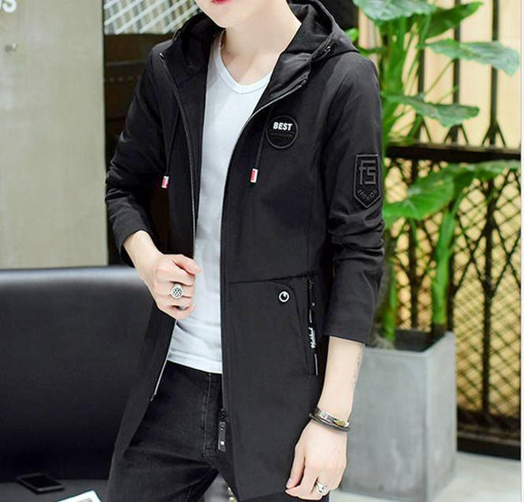 Mens Lightweight Hooded Jacket with Badges - AmtifyDirect
