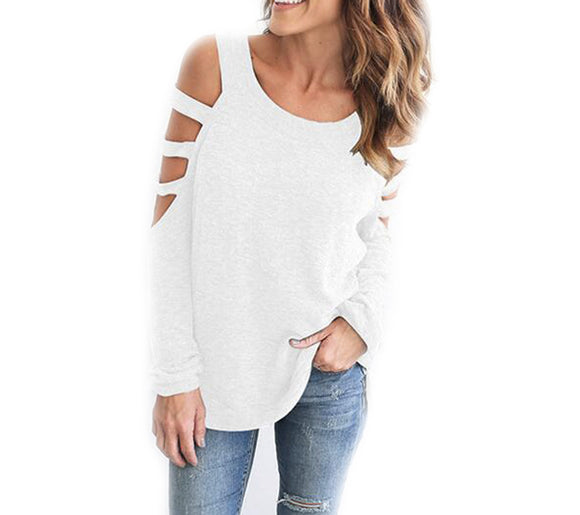 Womens Open Cut Shoulder Top