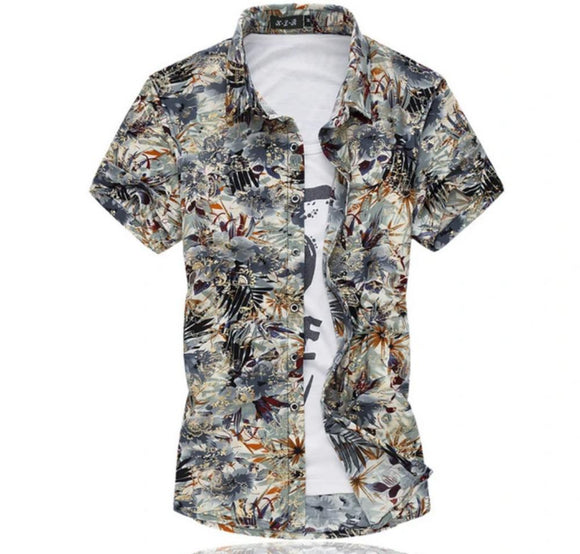 SALE Mens Overall Print Shirt - AmtifyDirect