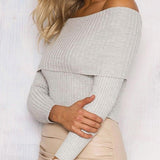 Womens Knit Off Shoulder Top